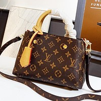 LV Louis Vuitton Women Classic Leather Handbag Tote Shoulder Bag Crossbody Satchel