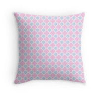 Pale Pink and Blue Quatrefoil Pattern by TigerLynx