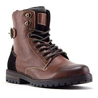 Men's B-1911 Steve 8 inch Tall Fashion Military Combat Dress Boots
