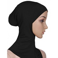 2016 New Arrivals 7 ColorS Muslim Style Full Cover Inner Cotton Hijab Cap Islamic Turban Head Wear Hat Underscarf Hijab