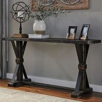 T096-4 Beckendorf Sofa Table Black Free Shipping!