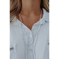 Double Date Necklace: Silver