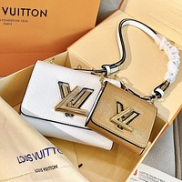 LV Louis Vuitton Newest Popular Lady Shopping Bag Leather Shoulder Bag Crossbody Satchel Set Two Piece