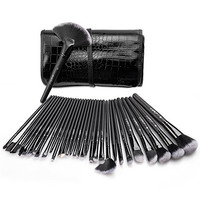USpicy Makeup Brushes 32 Pieces Cosmetics Make Up Brush Set with Travel Pouch