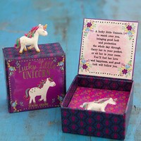 Lucky Little Unicorn Token Charm in Box