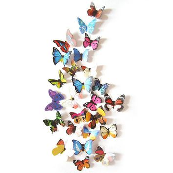 1set 3D Butterfly Sticker DIY Decal Art Wall Stickers Room Home Decor -Y102