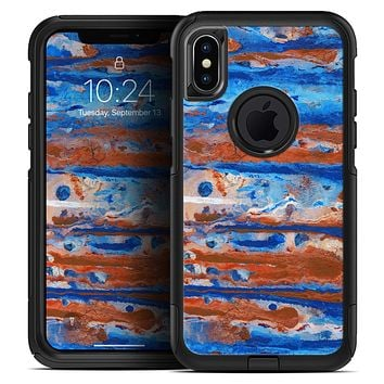 Abstract Wet Paint Rustic Blue - Skin Kit for the iPhone OtterBox Cases