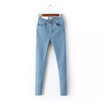 Summer Classics High Rise Stretch Jeans Skinny Pants [4920269700]