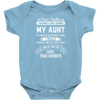 Dear Auntie, Thanks For Being My Aunt Infant Clothing