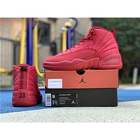 Air Jordan 12 Retro AJ 12 Red Bulls Men Women Basketball Shoes