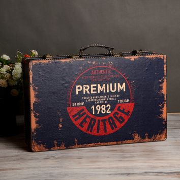Creative Wooden Vintage Weathered Storage Box [6282983878]