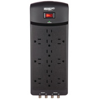 Monster 6-outlet Core Power 600 Usb+av Surge Protector With 2 Usb Ports