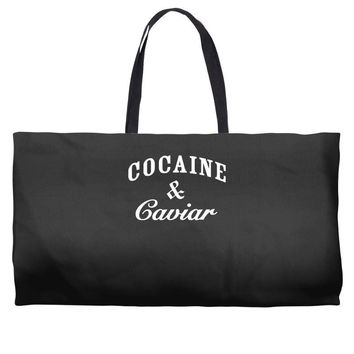 cocaine and caviar   mens hoodie cocain Weekender Totes