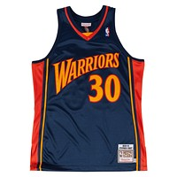 Mitchell & Ness Stephen Curry 2009-10 Authentic Jersey Golden State Warriors In Royal