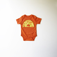Sunshine Organic Bodysuit in Orange