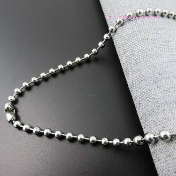 4mm 40/5060/70/80/90/100cm Length Ball Chain Bead Chains Stainless Steel Necklace
