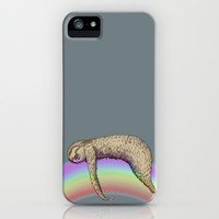 Nap (Sloth & Rainbow 2) iPhone & iPod Case by Leslie Tychsem | Society6
