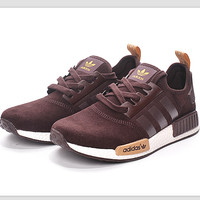 "Fashion ""Adidas"" Women Trending NMD Running Sports Shoes Brown"
