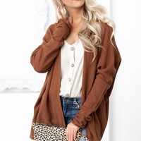 Leah Soft Knit Cardigan | Chestnut
