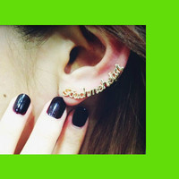 Touch me heart Statement Ear Cuff (Single, 1 Piercing Needed)