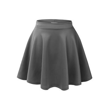 Basic Versatile Stretchy Flared Skater Skirt (CLEARANCE)