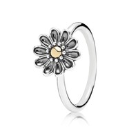 PANDORA Oopsie Daisy Two-Tone Flower Ring - Size 4.5
