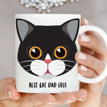 Cat Mug - Best Cat Dad Ever - A0004