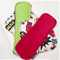 "Day and Night Set of 2. 11"" and 9"" Velour POW! Cloth Menstrual Pads - Mama Cloth - Ready to Ship"