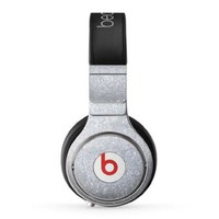 The Silver Sparkly Glitter Ultra Metallic Skin For The Beats Pro Headphones