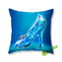 Cinderella Shoes Glass Square Pillow Cover