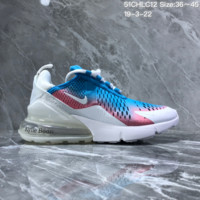 hcxx N1117 Nike Air Max 270 Mesh Kylie Boon Half palm high elasticity Sports Running Shoes White Blue Pink
