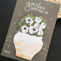 Garden Flower Sticky Notes Memo Pad Labels   Bookmark Stationary Paper   School Office Supplies   Removable Adhesive Cute Korean Post-It M35