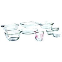 15-Piece Glass Bakeware Set - Dishwasher Oven Microwave & Freezer Safe
