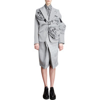 Comme des Garcons Gingham Check Multi Rose One-Button Jacket at Barneys New York at Barneys.com