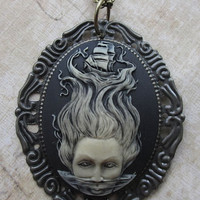 Storm of the Sea Necklace, Cameo Necklace, Skull Cameos, Gothic Necklaces, Horror Necklaces, Psychobilly Necklaces, Goth Necklaces, Ribcage Necklaces, Punk Rock Neclaces, Punk Necklaces Jewelry