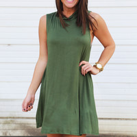 The Highlander Shift Dress {Olive}