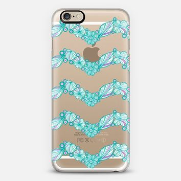 My Turquoise flowers iPhone 6 case by Julia Grifol Diseñadora Modas-grafica   Casetify
