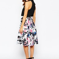 Warehouse Statement Floral Midi Dress