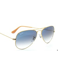 Tagre™ Cheap RAY BAN SunglaSSeS 3025 Rayban 001/3F Gold/BLUE Gradient LARGE AVIATORS 58 outlet