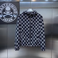 Louis Vuitton lv Fashion Casual Loose Hooded Cardigan Jacket Coat 086614