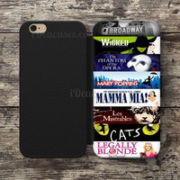 Broadway Musical Collage Wallet Case For iPhone 6S Plus 5S SE 5C 4S case, Samsung Galaxy S3 S4 S5 S6 Edge S7 Edge Note 3 4 5 Cases