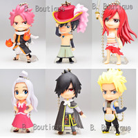 Anime Fairy Tail figure keychain strap x1 ONLY Mirajane Gray Rogue Sting