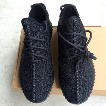 New 2015 Yeezy 350 Boost Black Womens Sneakers Replica. FREE Shipping.