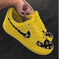 LV Nike Air Force 1 new pattern Low-end casual sneakers