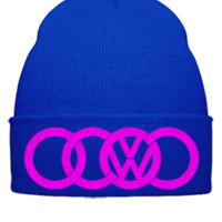 volkswagen dope  embroidery - Beanie Cuffed Knit Cap