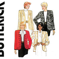 Womens Jackets Pattern Bust 34 36 38 Uncut Butterick 4479 Cardigan Style Boxy Evening Jackets Trim Variations Womens Vintage Sewing Patterns