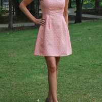 A Lot of Charm Bright Coral Fit & Flare Dress