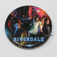 """Licensed cool CW RIVERDALE High Cast Group Characters 1 1/4"""" Button Pin Back Pinback Licensed"""