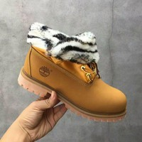 PEAP8KY Timberland Rhubarb Boots 21694 Yellow Waterproof Martin Boots