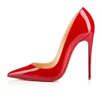 So Kate 120mm Oeillet Patent Leather